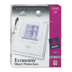 Avery Top-Load Sheet Protector, Economy Gauge, Letter, Clear, 100/Box