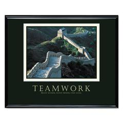 """Teamwork"" (Great Wall Of China) Framed Motivational Print, 30 x 24"