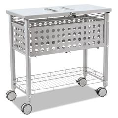 Smartworx File Cart, One-Shelf, 29 1/8w x 14d x 28 3/8h, Matte Gray