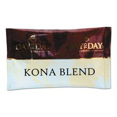 Day to Day Coffee 100% Pure Coffee, Kona Blend, 1.5 oz Pack, 42 Packs/Carton