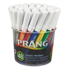 Prang Classic Art Markers, Fine Point, 48 Assorted Colors, 48/Set