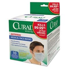 Antiviral Medical Face Mask, Pleated, 10/Box
