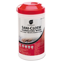 Sani Professional Sani-Cloth Disinfecting Surface Wipes, 7 1/2 x 5 3/8, 200/Canister