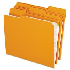 Pendaflex Reinforced Top Tab File Folders, 1/3 Cut, Letter, Orange, 100/Box