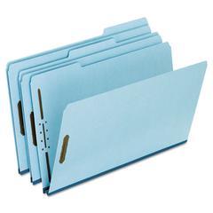 "Pendaflex Pressboard Folders, 2 Fasteners, 1"" Expansion, 1/3 Tab, Legal, Blue, 25/Box"
