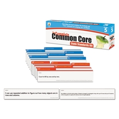 Common Core State Standard Pocket Chart Cards, Language Arts & Math, Grade 5