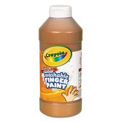 Washable Fingerpaint, Brown, 16 oz