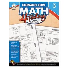 Carson-Dellosa Publishing Common Core 4 Today Workbook, Math, Grade 3, 96 pages