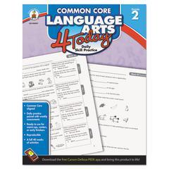 Carson-Dellosa Publishing Common Core 4 Today Workbook, Language Arts, Grade 2, 96 pages