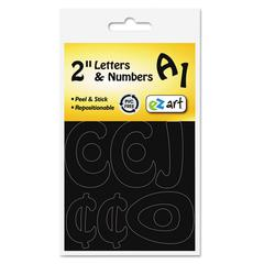 "Self-Adhesive Caps & Numbers, Hobo, Black, 2"", 79 Pack"