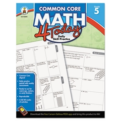 Carson-Dellosa Publishing Common Core 4 Today Workbook, Math, Grade 5, 96 pages