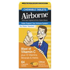 Airborne Immune Support Chewable Tablet, Citrus, 64 Count