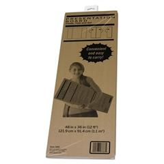 Pacon Spotlight Corrugated Presentation Display Board, White, 48 x 36