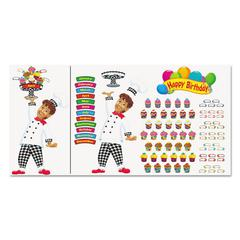 TREND Happy Birthday Bake Shop Bulletin Board Set, 93 pieces