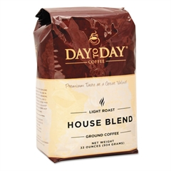 Day to Day Coffee 100% Pure Coffee, House Blend, Ground, 33oz Bag