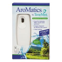 AroMatics Dispenser/Refill Kits, 3oz Meadow Breeze Refill, White Dispenser