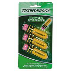 Ticonderoga Shaped Eraser, Latex-Free, 3/Pack