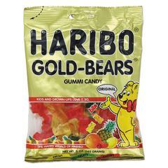 Haribo Gummi Candy, Gummi Bears, Original Assortment, 5oz Bag, 12/Carton