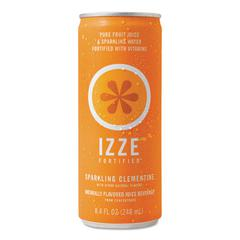 IZZE Fortified Sparkling Juice, Clementine, 8.4 oz Can, 24/Carton
