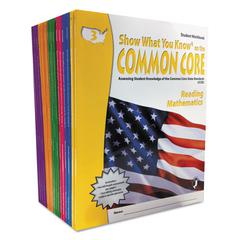 Show What You Know Common Core Assessment Reference Kit, Math/Reading, Grades 3-8, 2040 Pages