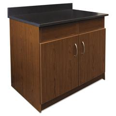 Alera Plus Hosp. Base Cabinet, 2 Door/2 Flipper Doors, 36 x 24 3/4 x 40, Cherry/Granite Neb