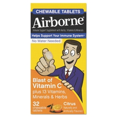 Airborne Immune Support Chewable Tablet, Citrus, 32 Count