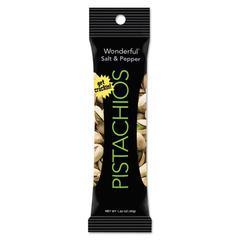 Paramount Farms Wonderful Pistachios, Salt & Pepper, 1.25oz Pack, 12/Box