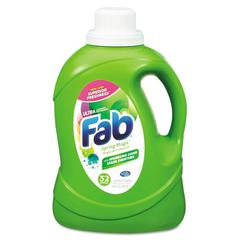 Fab 2X HE Liquid Laundry Detergent, Spring Magic, 50oz, Bottle, 6/Carton