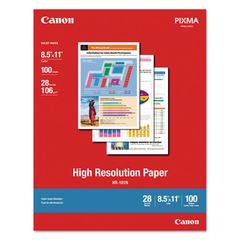 Canon High Resolution Paper, Matte, 8-1/2 x 11, 28 lb., White, 100 Sheets/Pack
