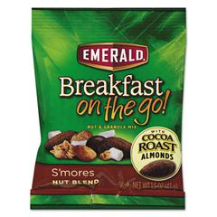 Emerald Breakfast on the go, S'mores Nut Blend, 1.5oz Bag, 8/Box