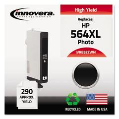 Remanufactured CB322WN (564XL) High-Yield Chipped Ink, Photo Black