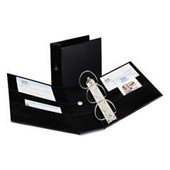 """Avery Durable Binder with Two Booster EZD Rings, 11 x 8 1/2, 5"""", Black"""