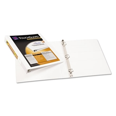 "Touchguard Antimicrobial View Binder w/Slant Rings, 1"" Cap, White"