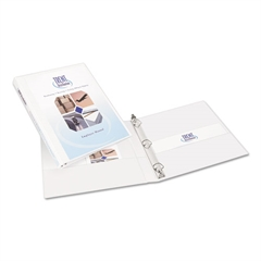 "Avery Durable View Binder w/Slant Rings, 11 x 8 1/2, 1/2"" Cap, White"