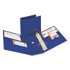 """Avery Durable Binder with Two Booster EZD Rings, 11 x 8 1/2, 5"""", Blue"""
