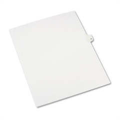 Avery Allstate-Style Legal Exhibit Side Tab Divider, Title: 36, Letter, White, 25/Pack