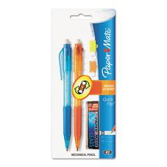 Paper Mate Quick Flip Mechanical Pencil, .5mm, Blue-Orange Barrel, 2/Pack