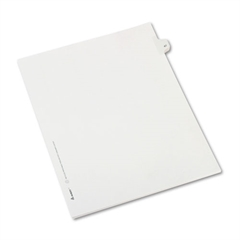 Allstate-Style Legal Exhibit Side Tab Divider, Title: 47, Letter, White, 25/Pack