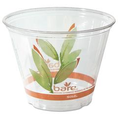 Bare RPET Cold Cups, Leaf Design, 9 oz, 1000/Carton