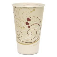 SOLO Cup Company Symphony Treated-Paper Cold Cups, 12oz, White/Beige/Red, 100/Bag, 20 Bags/Carton