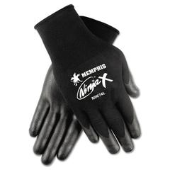 Memphis Ninja x Bi-Polymer Coated Gloves, X-Large, Black, Pair
