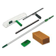 Unger Pro Window Cleaning Kit w/8ft Pole, Scrubber, Squeegee, Scraper, Sponge