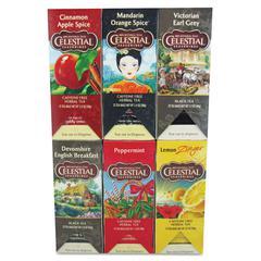 Tea, Six Assorted Flavors, 25 Bags/Box, 150/Carton