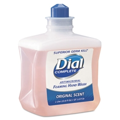Dial Professional Antimicrobial Foaming Hand Wash, 1000mL Refill, 6/Carton