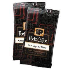 Peet's Coffee & Tea Coffee Portion Packs, Gaia Organic Blend, 2.5 oz Frack Pack, 18/Box