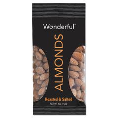 Paramount Farms Wonderful Almonds, Dry Roasted & Salted, 5 oz, 8/Box