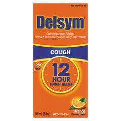 Delsym Adult Cough Suppressant, Orange, 5oz Bottle