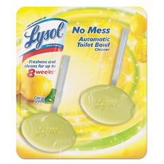 LYSOL Brand No Mess Automatic Toilet Bowl Cleaner, Citrus/Lemon, 2/Pack