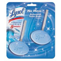 LYSOL Brand No Mess Automatic Toilet Bowl Cleaner, Ocean/Atlantic Fresh, 2/Pack