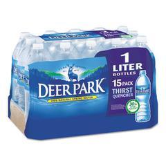 Natural Spring Water, 1 Liter Bottle, 15 Bottles/Carton